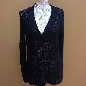 Michael Kors Navy V-neck Sweater Large